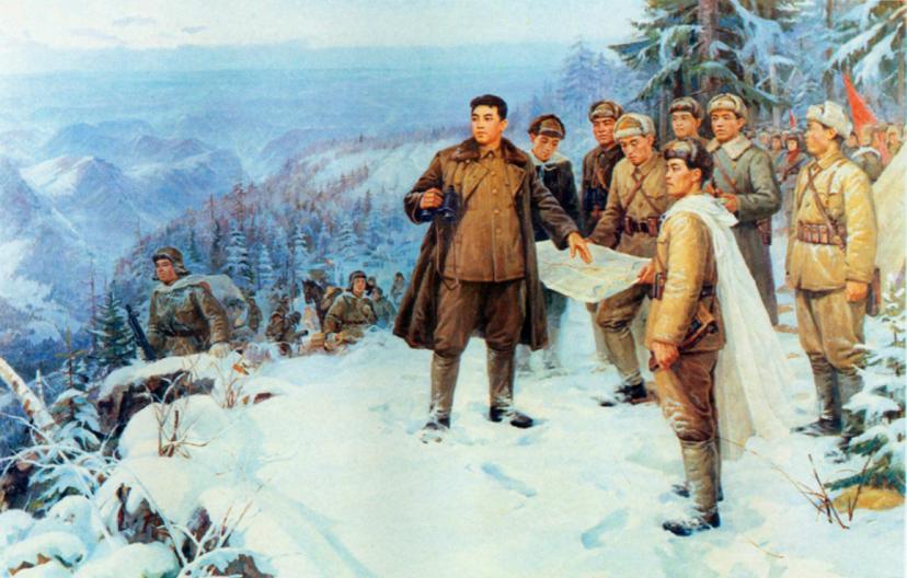Kim Il Sung during KPRA march